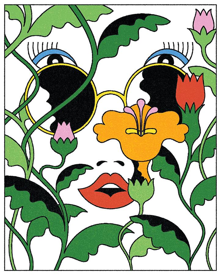 LanTruong-WomanandFlowers-Illustration-itsnicethat